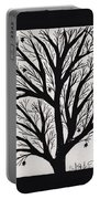 Silhouette Maple Portable Battery Charger by Barbara St Jean