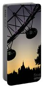Silhouette Of London Eye Portable Battery Charger