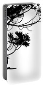 Silhouette Of Singing Common Blackbird In A Tree Portable Battery Charger by Stephan Pietzko