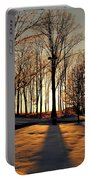 Silhouette Of Trees And Ice Portable Battery Charger