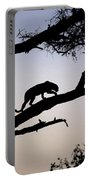 Silhouetted Leopard Portable Battery Charger