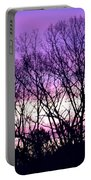 Silhouettes Against Pink Skies Portable Battery Charger