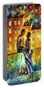 Silhouettes - Palette Knife Oil Painting On Canvas By Leonid Afremov Portable Battery Charger