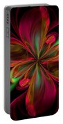 Silk Butterfly Abstract Portable Battery Charger