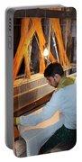 Silk Weaver - Varanasi India Portable Battery Charger