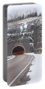 Silver Creek Cliff Tunnel Winter 1 Portable Battery Charger