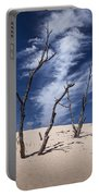 Silver Lake Dune With Dead Trees And Cirrus Clouds Portable Battery Charger