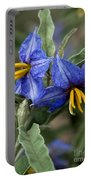 Silver Leaf Blooms Portable Battery Charger