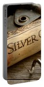 Silver On Silver Portable Battery Charger