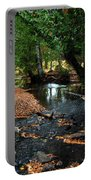 Silver River Channel In Autumn Portable Battery Charger