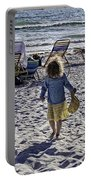 Simpler Times 2 - Miami Beach - Florida Portable Battery Charger by Madeline Ellis