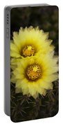 Simply Golden Cactus Flowers  Portable Battery Charger