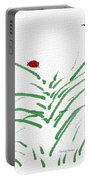 Simply Ladybugs And Grass Portable Battery Charger