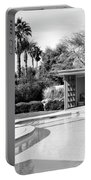 Sinatra Pool And Cabana Bw Palm Springs Portable Battery Charger