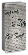 Sing Unto The Lord A New Song Portable Battery Charger