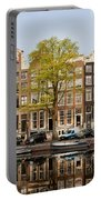 Singel Canal Houses In Amsterdam Portable Battery Charger