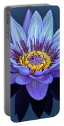 Single Lavender Water Lily Portable Battery Charger