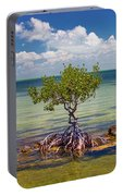 Single Mangrove Tree In The Gulf Portable Battery Charger
