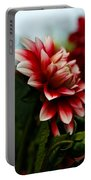 Single Red Dahlia Portable Battery Charger