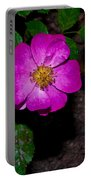 Single Wild Rose Portable Battery Charger