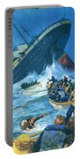 Sinking Of The Titanic Portable Battery Charger