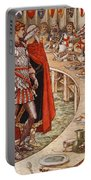 Sir Galahad Is Brought To The Court Of King Arthur Portable Battery Charger
