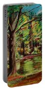 Sisters At Wason Pond Portable Battery Charger by Sean Connolly