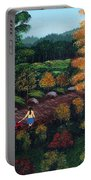 Sister's Autumn Stroll Portable Battery Charger