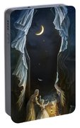 Sisters In The Moonlight Portable Battery Charger