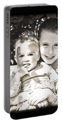 Sisters In Sepia Portable Battery Charger