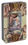 Sistine Chapel Ceiling 1508-12 The Creation Of Eve, 1510 Fresco Post Restoration Portable Battery Charger