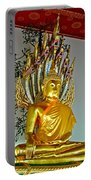 Sitting Buddha In Wat Po In Bangkok-thailand Portable Battery Charger