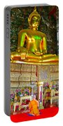 Sitting Buddha In Wat Suthat In Bangkok-thailand Portable Battery Charger