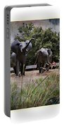 Sitting By The Elephants Portable Battery Charger