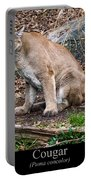 sitting Cougar Portable Battery Charger