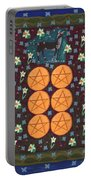 Six Of Pentacles Portable Battery Charger