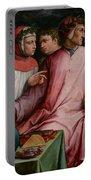 Six Tuscan Poets Portable Battery Charger by Giorgio Vasari