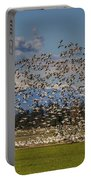 Skagit Snow Geese Liftoff Portable Battery Charger