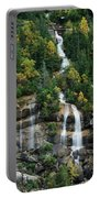 Skagway Waterfall Vertical Panorama Portable Battery Charger