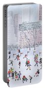 Skating Rink Central Park New York Portable Battery Charger