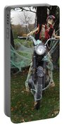 Skeleton Biker On Motorcycle  Portable Battery Charger