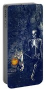 Skeleton With Jack O Lantern Portable Battery Charger