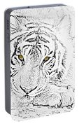 Sketch With Golden Eyes Portable Battery Charger