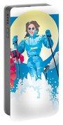 Ski Fun Art Portable Battery Charger