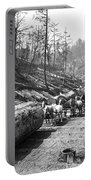 Skidding Redwood Logs C. 1890 Portable Battery Charger
