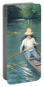 Skiffs Portable Battery Charger by Gustave Caillebotte