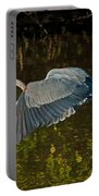 Skimming Great Heron Portable Battery Charger