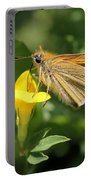 European Skipper On Bird's-foot Trefoil Portable Battery Charger
