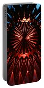 Skc 0285 Cut Glass Plate In Red And Blue Portable Battery Charger