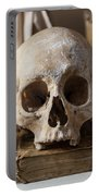 Skull And Old Book Portable Battery Charger